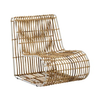 Modern Bamboo Strip Side Chair For Sale