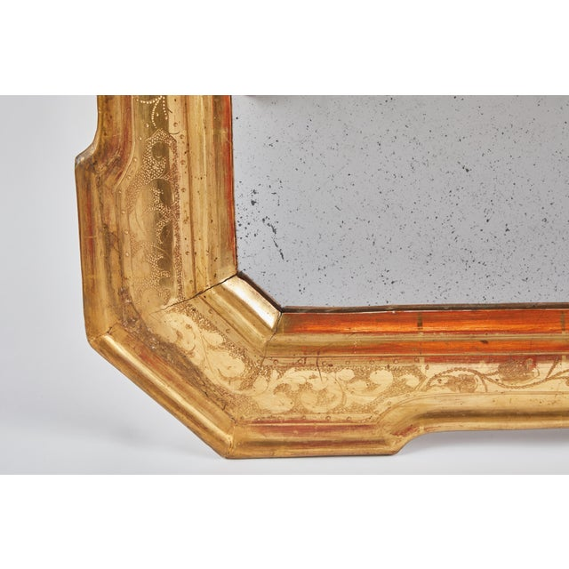 Late 18th Century 18th Century Gilt Italian Mirror From Lombardy For Sale - Image 5 of 8