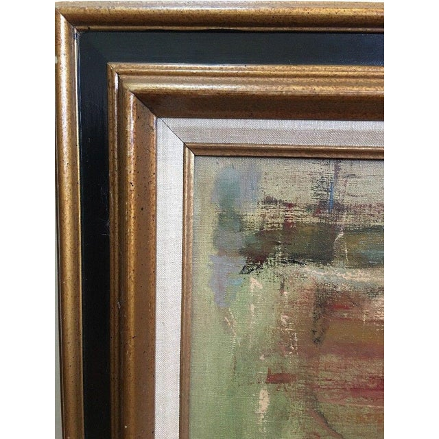 Abstract 1975 Vintage Mid Century Abstract Expressionist Oil Painting, Signed Jesse Jacobs For Sale - Image 3 of 11