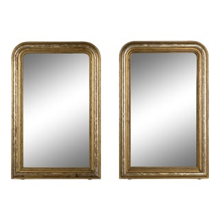19th Century Louis Philippe Style Gilded Mirrors - a Pair For Sale