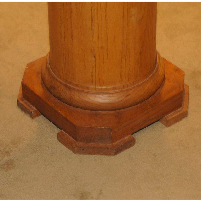 Oak Pedestal Circa 1910 - Image 3 of 4