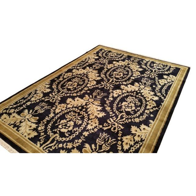 Traditional hand made knotted rug. ID Number: CH061710