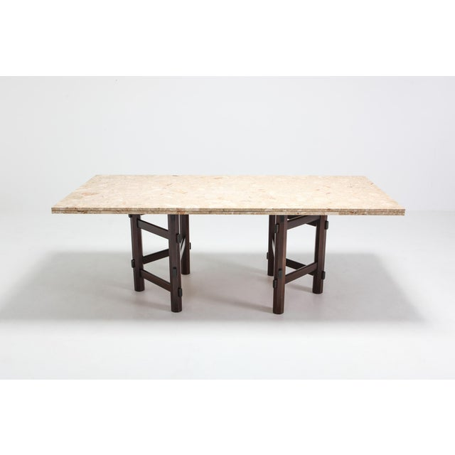 1970s Modern Terazzo Marble Dining Table by Jan Vlug For Sale - Image 5 of 9