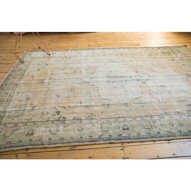 "1950s Vintage Distressed Oushak Carpet - 7'2"" X 10'1"" For Sale - Image 5 of 13"