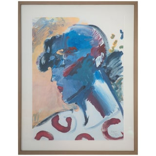 """Peter Max Pencil Signed Original Artist Proof """"Palm Beach Lady, 1981 For Sale"""