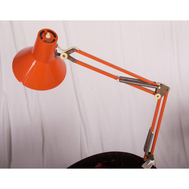 Mid-Century Modern Orange Table Lamp by Luxo, 1970s For Sale - Image 3 of 6