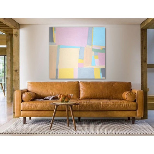Canvas 'Jane Says' Original Abstract Painting by Linnea Heide For Sale - Image 7 of 8