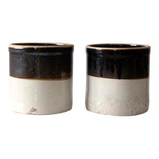 Antique Stoneware Crocks - Set of 2 For Sale