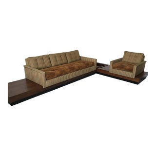 Adrian Pearsall Floating Platform Sectional Sofa For Sale