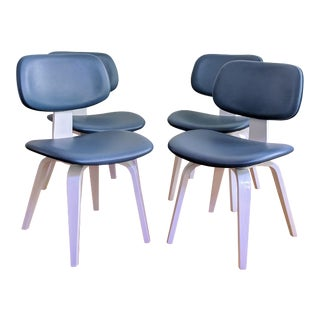 Eames Style Molded Plywood Dining Chairs - Set of 4 For Sale