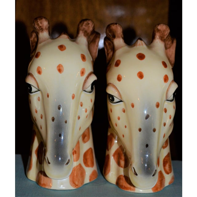 Vintage Fitz & Floyd Porcelain Giraffe Bookends - A Pair For Sale In Houston - Image 6 of 11