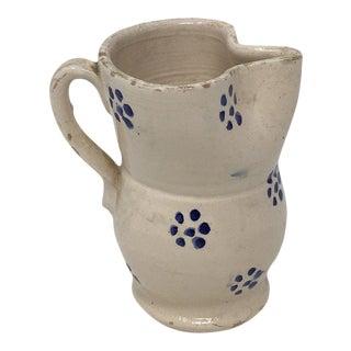 Antique Puglia Apulia Italy Ceramic Pitcher For Sale