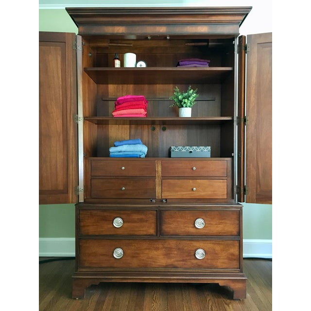 Ethan Allen Ethan Allen Newport Collection Mahogany Armoire For Sale - Image 4 of 12