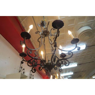 Vintage Antique Style Wrought Iron 6 Arm Chandelier Preview