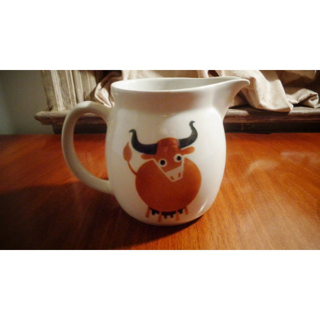 Arabia Arabia of Finland Mid-Century Longhorn Cow Pitcher For Sale - Image 4 of 4