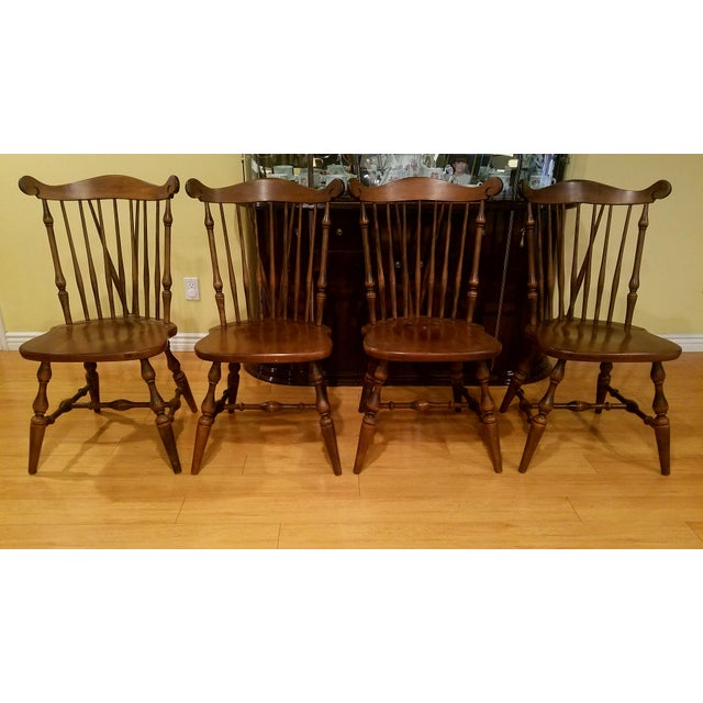 Temple Stuart Maple Dining Chairs - Set of 4 For Sale - Image 10 of 10