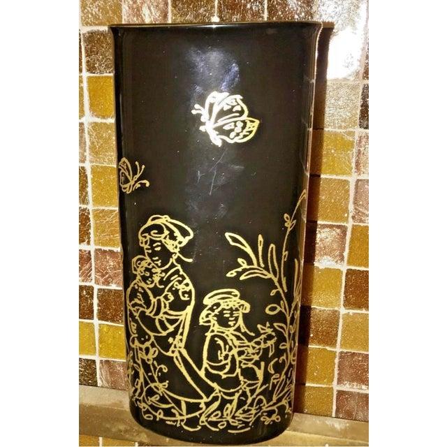 """Rosenthal Edna Hibel Rosenthal """"Festival Annual"""" Golden Vase For Sale - Image 4 of 13"""