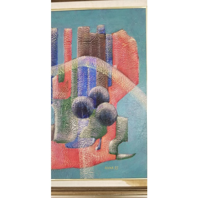 1990 Anna Goncharova Postmodern Style Abstract Painting For Sale In Miami - Image 6 of 13