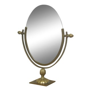 Charles Hollis Jones Brass Mirror For Sale