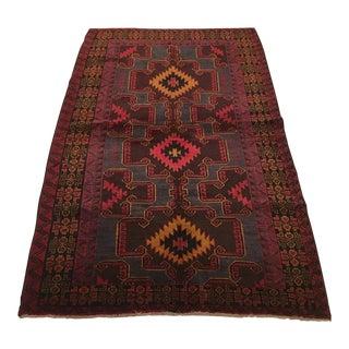 1940s Vintage Afghani Baluch Rug - 3′11″ × 6′9″ For Sale