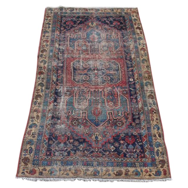 """Antique Persian Rug - 3'6"""" x 6'2"""" - Image 1 of 8"""