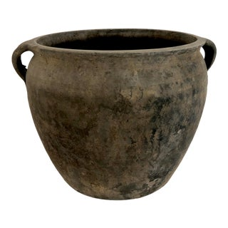 Antique Chinese Black Pottery Jug For Sale