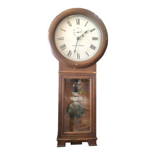 Antique Seth Thomas Wall Clock For Sale