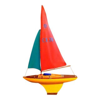 Vintage Wood French Sailboat