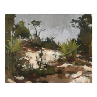 "Rubino Framed Painting ""Hawk's Bluff Revisited"", Contemporary Florida Landscape"