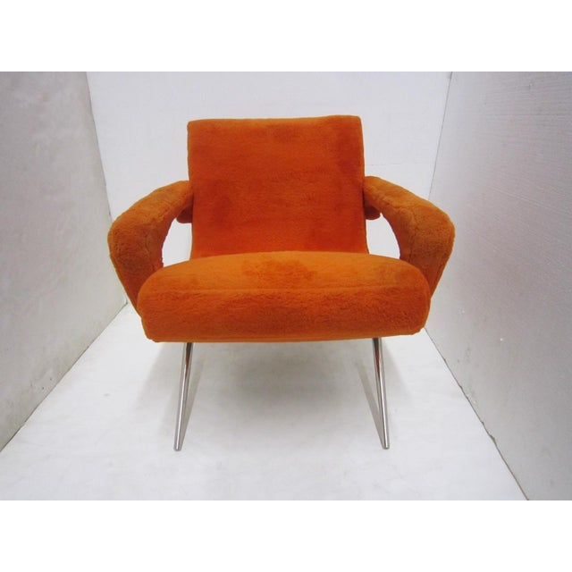Mid-Century Italian Upholstered Lounge Slipper Chairs - a Pair For Sale - Image 12 of 13