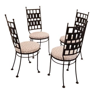 Maurizio Tempestini Iron Garden or Dining Chairs For Sale