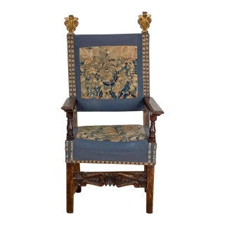 Baroque Armchair With Tapestry, Italy Circa 1690 For Sale
