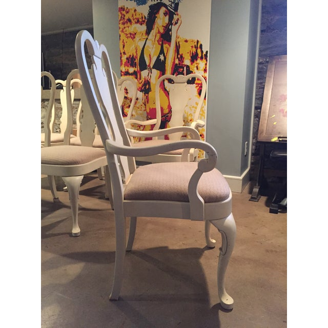 White Wood Dining Chairs - Set of 6 - Image 8 of 11