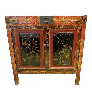 """Antique Chinese Hand-Painted Chest 23"""" W by 33"""" H For Sale"""