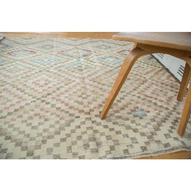 "Vintage Oushak Distressed Square Rug - 5'4"" X 5'5"" - Image 6 of 7"
