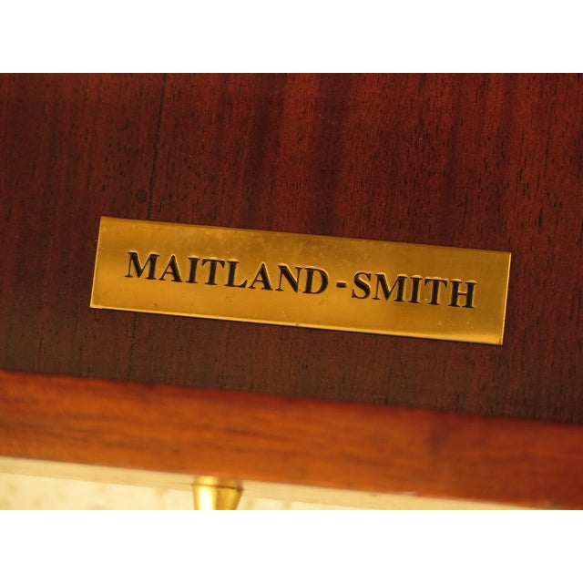 Maitland Smith Leather Wrapped House Form China Cabinet For Sale - Image 12 of 13