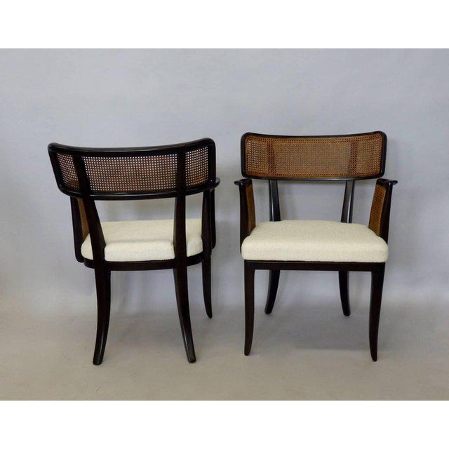 Mid-Century Modern Four Edward Wormley for Dunbar Dining Chairs For Sale - Image 3 of 7