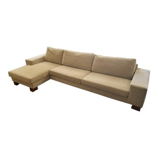 Modern BoConcept Taupe Chenille Sectional Sofa For Sale