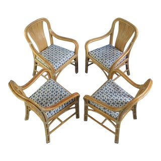 1970s Vintage Rattan Chairs- Set of 4 For Sale