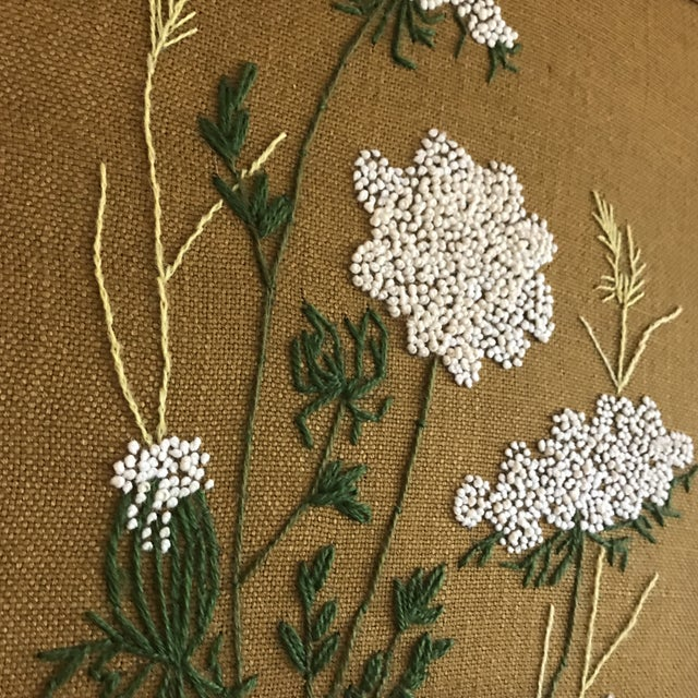 I really thing this is one of the more beautiful needlepoint crewel work pieces I have seen. It has a real elegant classy...