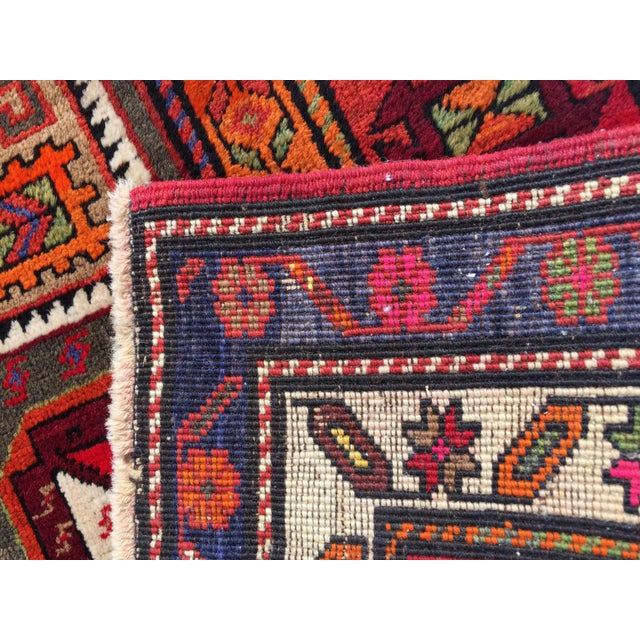 Vintage Turkish Tribal Hand Knotted Runner - 3′10″ × 10′3″ For Sale - Image 10 of 11