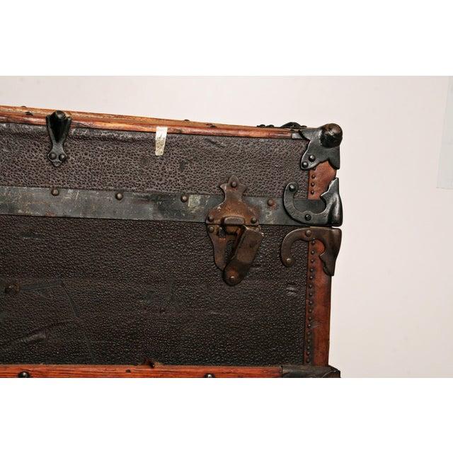 Antique Wood Steamer Trunk - Image 11 of 11