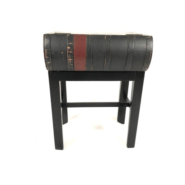 19th Century Painted Wood Book Box on Stand For Sale - Image 4 of 13