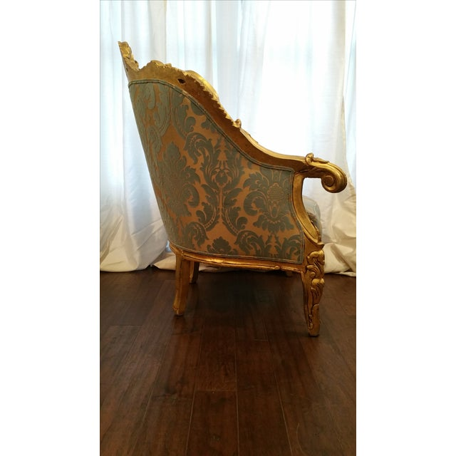 Antique French Louis XV Gilt Wood Chairs - Pair - Image 4 of 11