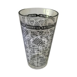 Vintage Cocktail Recipe Glass