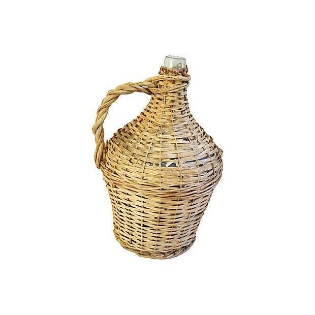 French Wicker Demijohn Bottle - Image 1 of 5