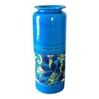 Aldo Londi Bitossi Rosenthal Netter Italian Pottery Umbrella Stand Floor Vase For Sale