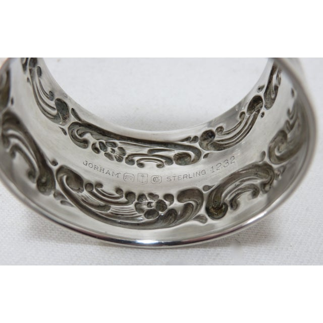 Vintage Victorian Gorham Sterling Silver Napkin Rings - a Pair For Sale In Boston - Image 6 of 12