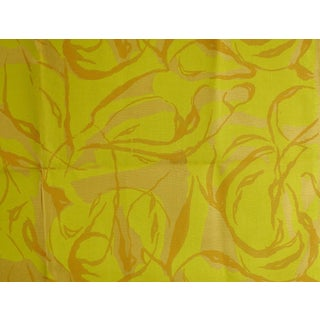 Hand Printed Abstract Fabric Sample For Sale