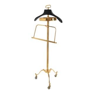 Gentleman Elegant Brass Valet Maison Jansen Made in Italy For Sale